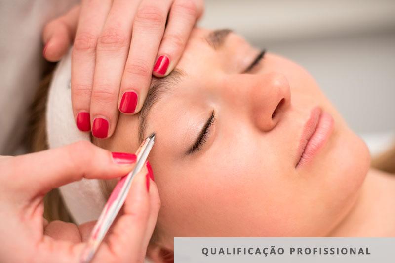 qualificação profissional em design de sobrancelhas